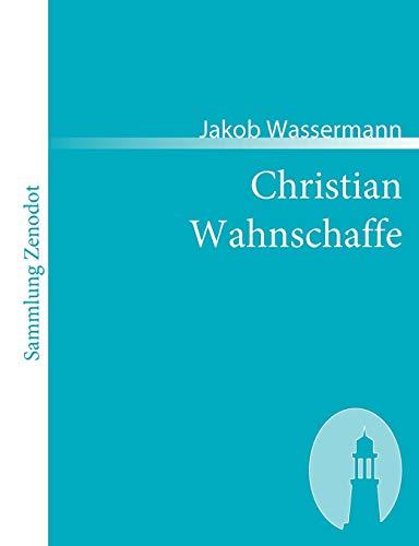 9783866401532: Christian Wahnschaffe: Roman in zwei Bänden (Sammlung Zenodot)