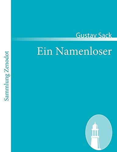 9783866403659: Ein Namenloser (Sammlung Zenodot) (German Edition)