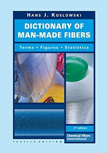 9783866411630: Dictionary of Man-Made Fibers: Terms - Figures - Statistics