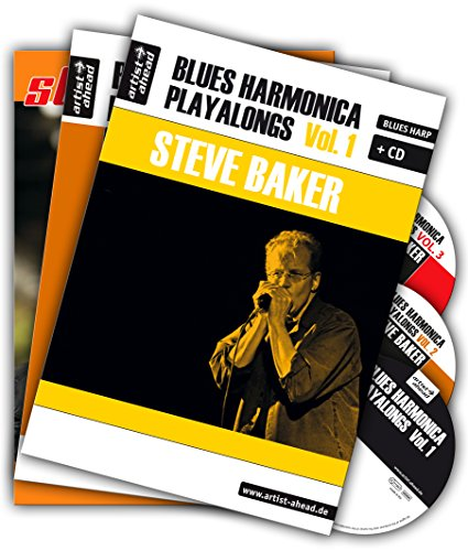 Blues Harmonica Playalongs - Set - Vol. 1-3, drei Bücher & drei CDs