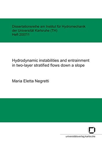 9783866441705: Hydrodynamic instabilities and entrainment in two-layer stratified flows down a slope