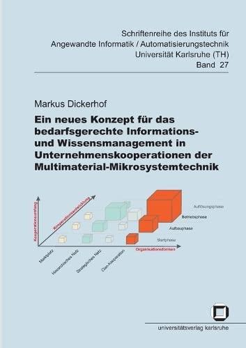 9783866443716: Ein neues Konzept für das bedarfsgerechte Informations- und Wissensmanagement in Unternehmenskooperationen der Multimaterial-Mikrosystemtechnik