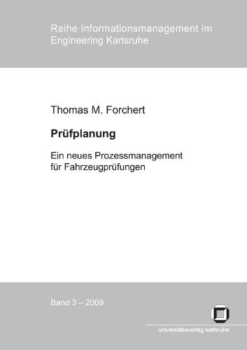 9783866443853: Prüfplanung : ein neues Prozessmanagement für Fahrzeugprüfungen