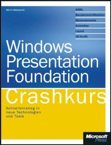 9783866455047: Windows Presentation Foundation - Crashkurs: Schnelleinstieg in neue Technologien und Tools