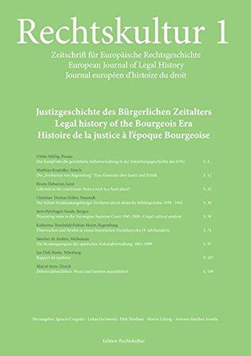 Rechtskultur 1 - Zeitschrift für Europäische Rechtsgeschichte:: Ignacio Czeguhn