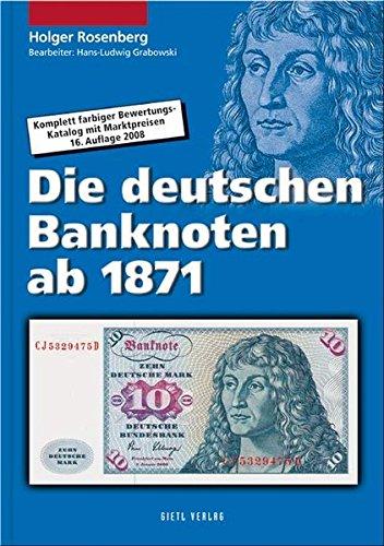 9783866465114: Die deutschen Banknoten ab 1871: Komplett farbiger Bewertungskatalog mit Marktpreisen