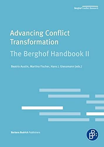 9783866493278: Advancing Conflict Transformation: The Berghof Handbook (The Berghof Conflict Research)