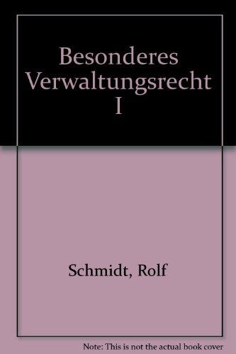 9783866510067: Besonderes Verwaltungsrecht I