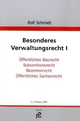 9783866510319: Besonderes Verwaltungsrecht I