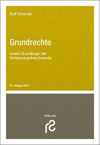 9783866511224: Grundrechte: sowie Grundzüge der Verfassungsbeschwerde