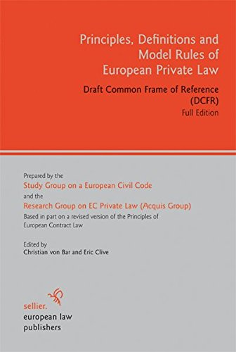 9783866530980: Principles, Definitions and Model Rules of European Private Law: Draft Common Frame of Reference (DCFR). Full Edition