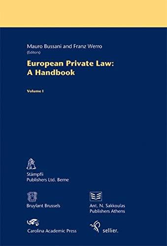 9783866531215: European Private Law: A Handbook. Volume 1: Volume 1