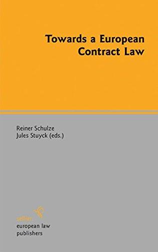 9783866532014: Towards a European Contract Law