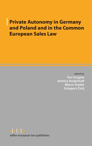 9783866532212: Private Autonomy in Germany and Poland and in the Common European Sales Law