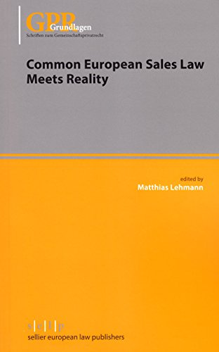 9783866532700: Common European Sales Law Meets Reality