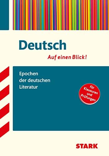 9783866687035: Deutsch - auf einen Blick! Epochen der deutschen Literatur: Deutsch - auf einen Blick! für Klausuren und Prüfungen