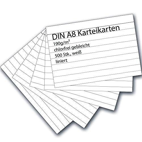 9783867152280: 200 Stück Karteikarten A8 liniert weiß