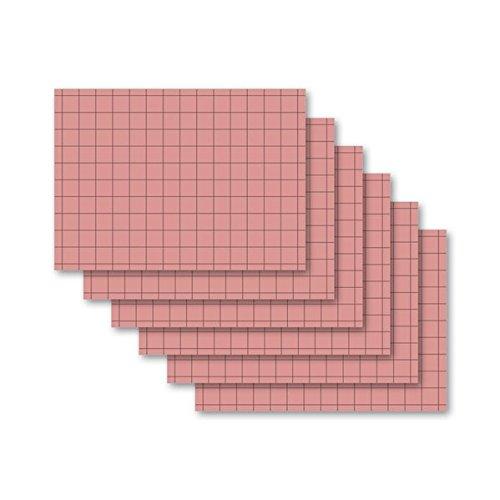 9783867154666: Karteikarten 100 Stück A4 rosa kariert