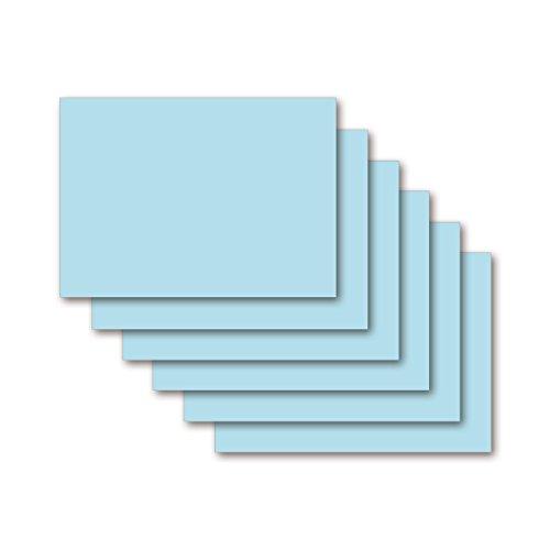 9783867155427: Karteikarten 200 Stück A5 eisblau blanko