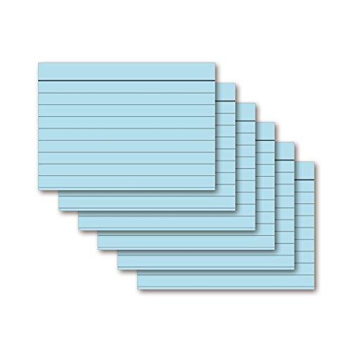 9783867155434: Karteikarten 100 Stück A5 eisblau liniert