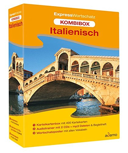 9783867156080: Kombibox Expresswortschatz Italienisch: Karteikartenbox, Audiotrainer und Wortschatzposter