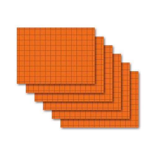 9783867156967: Karteikarten 500 Stück A8 intensiv-orange kariert