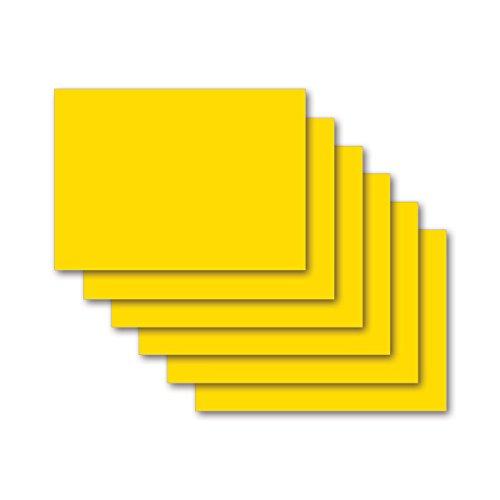 9783867157841: Karteikarten 100 St�ck A6 zitronengelb blanko