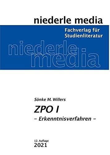 ZPO I.: Erkenntnisverfahren. - Willers, Sönke M.