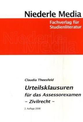 9783867241458: Urteilsklausuren für das Assessorexamen: Zivilrecht
