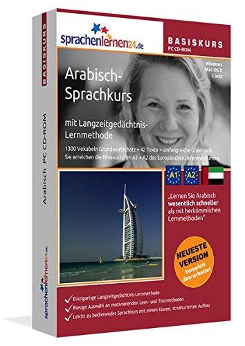 9783867253444: Arabisch-Basiskurs mit Langzeitgedächtnis-Lernmethode von Sprachenlernen24.de: Lernstufen A1 + A2. Arabisch lernen für Anfänger. Sprachkurs PC CD-ROM für Windows 8,7,Vista,XP / Linux / Mac OS X