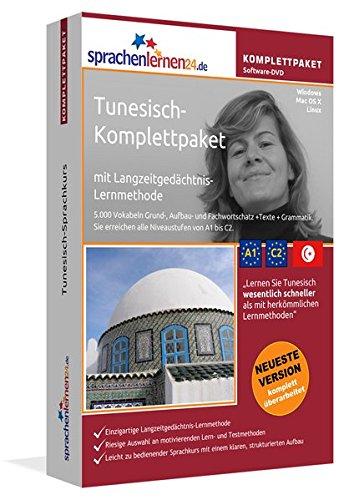 9783867257275: Tunesisch-Komplettpaket mit Langzeitgedächtnis-Lernmethode von Sprachenlernen24. Intensivkurs: Lernstufen A1 bis C2. Wortschatz & Grammatik. Software-DVD für Windows 10,8,7,Vista,XP/Linux/Mac OS X