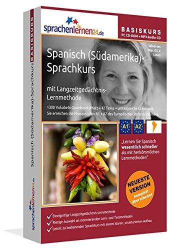 9783867258340: Sprachenlernen24.de Spanisch für Südamerika-Basis-Sprachkurs. CD-ROM für Windows Vista; XP; NT; ME; 2000; 98/Linux/Mac OS X + MP3-Audio-CD für ... Wiedereinsteiger und Fortgeschrittene!