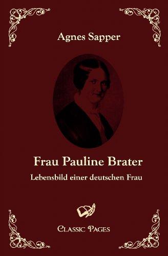 9783867412070: Frau Pauline Brater