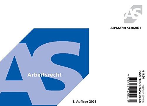 9783867520478: Alpmann-Cards Arbeitsrecht: 46 Karteikarten