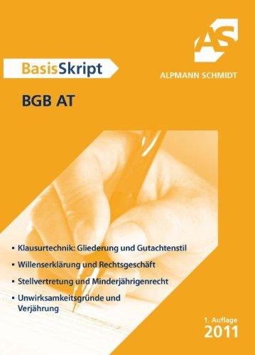 BasisSkript BGB AT - Dr. Christoph Pechstein