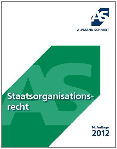 9783867522274: Skript Staatsorganisationsrecht: 19 F�lle