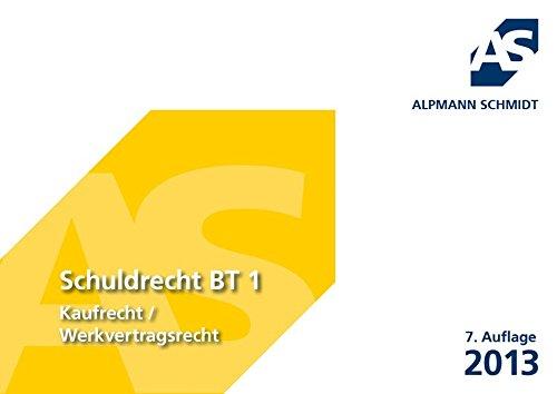 9783867523127: Alpmann Cards Schuldrecht BT 01
