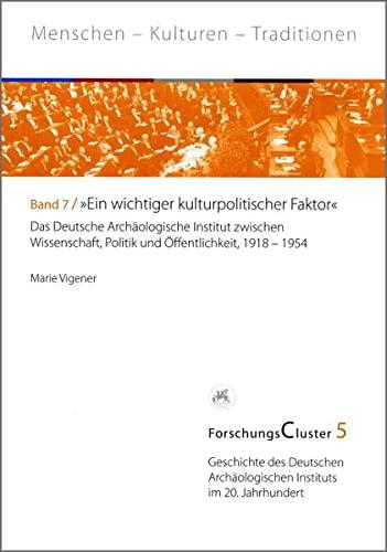 "ForschungsCluster 5. ""Ein wichtiger kulturpolitischer Faktor"": Marie Vigener"