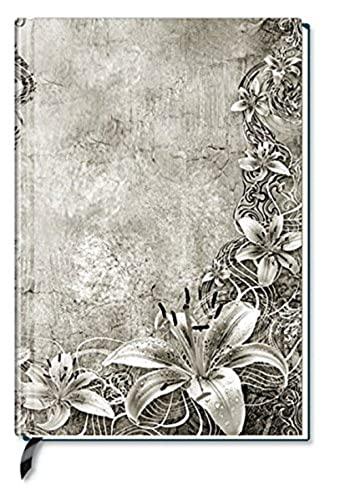 Premium Book Floral Art Notizbuch liniert: Alpha-Edition