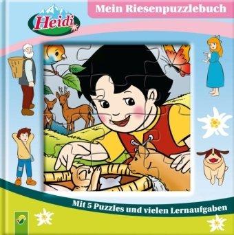 9783867754446: Mein Riesenpuzzlebuch Heidi: Mit 5 Puzzles und vielen Lernaufgaben