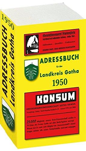 9783867770392: Adressbuch Einwohnerbuch LANDKREIS GOTHA 1950 in Thüringen