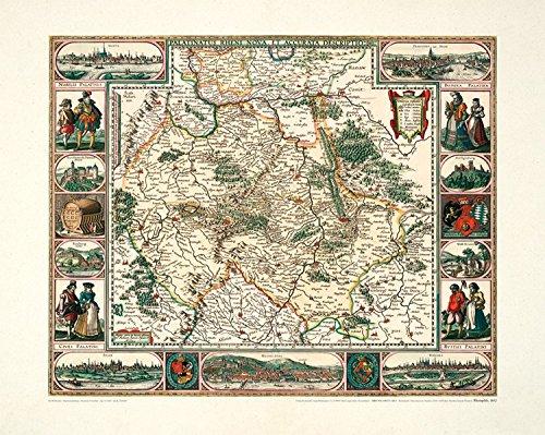 9783867771283: Historische Karte: Rheinpfalz, 1652