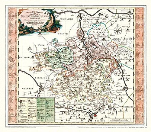 9783867771337: Historische Karte: Amter Bitterfeld, Delitzsch und Zoerbig, 1758
