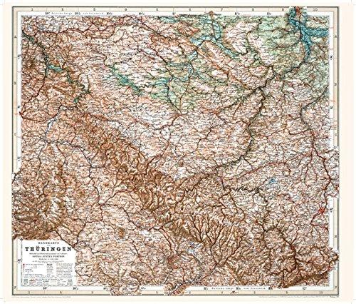 Historische Karte: Handkarte von Thüringen - 1903