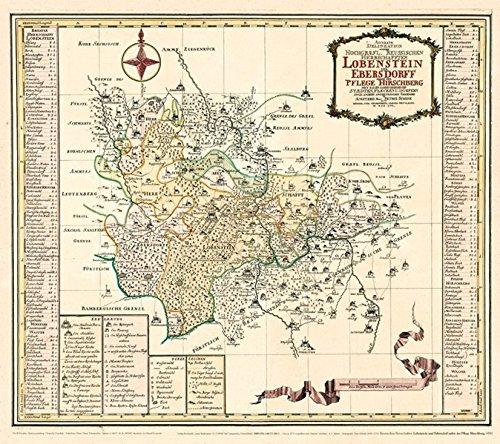 9783867772204: Historische Karte: Lobenstein und Ebersdorf nebst der Pflege Hirschberg, 1757