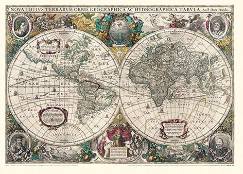 Historische WELTKARTE 1641 - Henricus Hondius (Plano): Hondius Henricus, Johannes