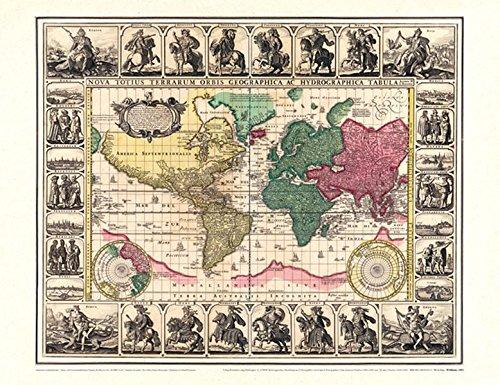 9783867776127: Historische WELTKARTE 1652 - Visscher (Plano 62 x 48 cm) Reihe World Map Weltkarten