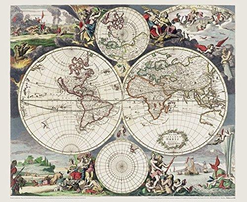 9783867776134: Historische WELTKARTE um 1660 - Justus Danckert (Plano)