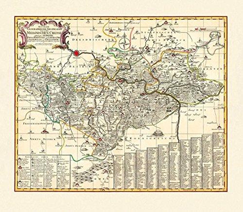 9783867776196: Historische Karte: Ämter Pirna, Hohnstein, mit Lohmen, Dippoldiswalda und Grillenburg, um 1750: KURFÜRSTENTUM SACHSEN | MEISSNISCHER KREIS. Mit Amt Grillenburg = ERZGEBIRGISCHER KREIS