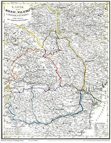 9783867776882: Historische Karte: Moldau, Walachei, Siebenb�rgen mit Bessarabien 1848 (Plano)